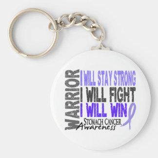 Stomach Cancer Warrior Keychain