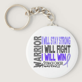 Stomach Cancer Warrior Keychain