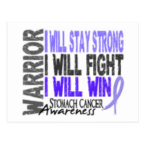 Stomach Cancer Warrior Postcard