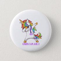 STOMACH CANCER Warrior Unbreakable Button