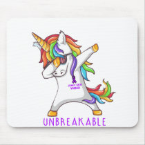 STOMACH CANCER Warrior Unbreakable Mouse Pad