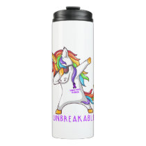 STOMACH CANCER Warrior Unbreakable Thermal Tumbler