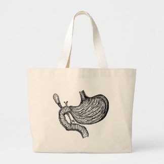 stomach drawing large tote bag