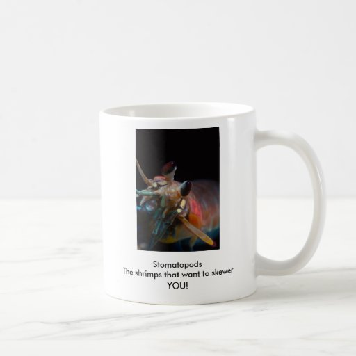 Stomatopods The shrimps that want to skewer YOU! Classic White Coffee Mug