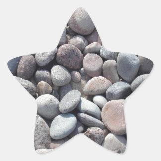 Stomes, diseño de los guijarros calcomania forma de estrella personalizada