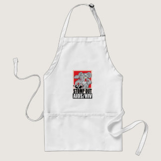 Stomp Out AIDS/HIV Adult Apron
