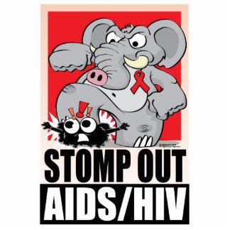 Stomp Out AIDS/HIV Cutout