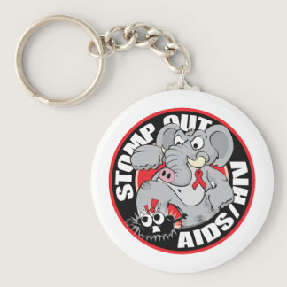 Stomp Out AIDS/HIV Keychain