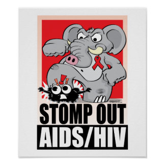 Stomp Out AIDS/HIV Poster
