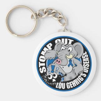 Stomp Out ALS Basic Round Button Keychain
