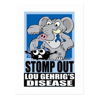 Stomp Out ALS Postcard