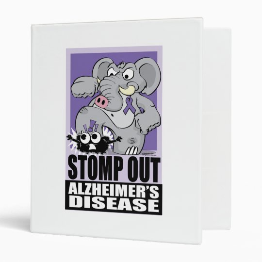 Stomp Out Alzheimer's Disease 3 Ring Binder