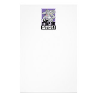 Stomp Out Alzheimer's Disease Stationery