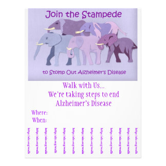 Stomp Out Alzheimer's Flyer