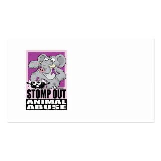 Stomp Out Animal Abuse Business Card