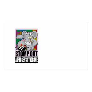 Stomp Out Asperger's Syndrome Business Card