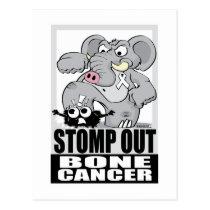 Stomp Out Bone Cancer Postcard