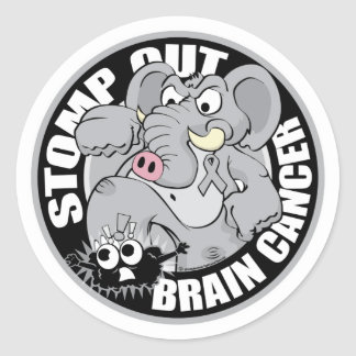 Stomp Out Brain Cancer Classic Round Sticker