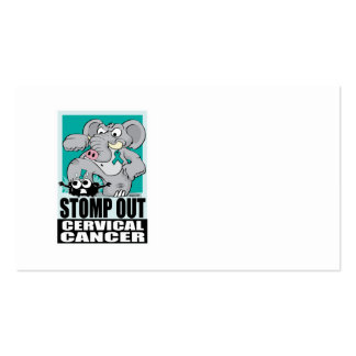 Stomp Out Cervical Cancer Business Card