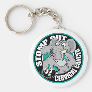 Stomp Out Cervical Cancer Keychain