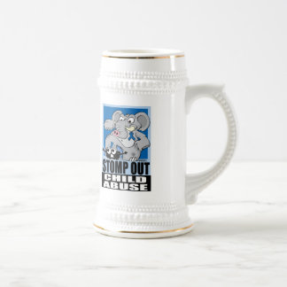 Stomp Out Child Abuse Beer Stein
