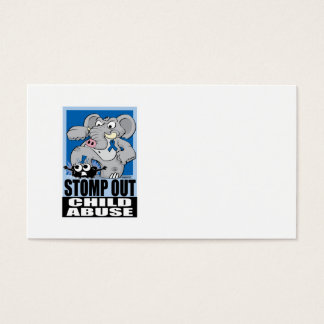 Stomp Out Child Abuse Business Card