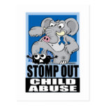 Stomp Out Child Abuse Postcard