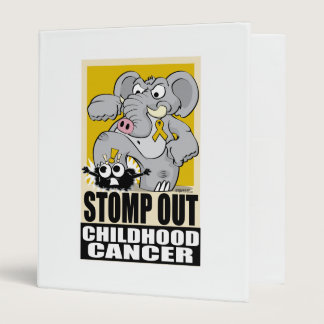 Stomp Out Childhood Cancer 3 Ring Binder