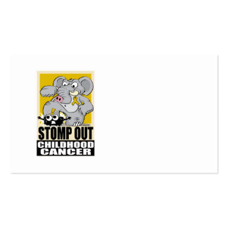 Stomp Out Childhood Cancer Business Card