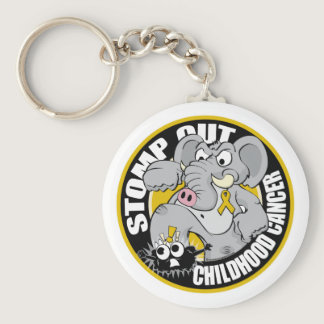 Stomp Out Childhood Cancer Keychain