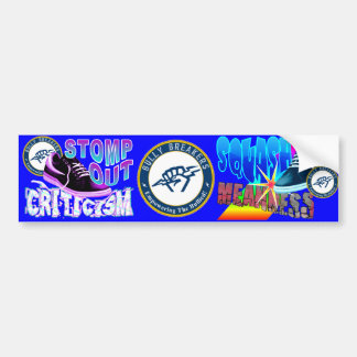 Stomp Out Criticism Anti-Bullying Product Bumper Sticker