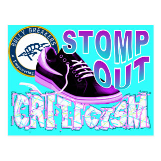 Stomp Out Criticism Anti-Bullying Product Postcard