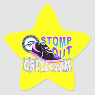 Stomp Out Criticism Anti-Bullying Product Star Sticker