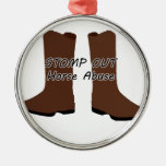 Stomp Out Horse Abuse Christmas Tree Ornaments