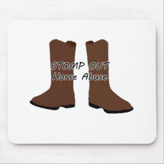Stomp Out Horse Abuse Mouse Pad