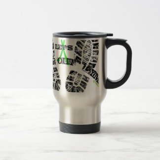 Stomp Out Lyme 15 Oz Stainless Steel Travel Mug