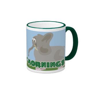 Stomp Out Mornings Elephant Ringer Coffee Mug