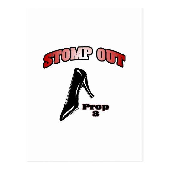 Stomp Out Prop 8 Postcard