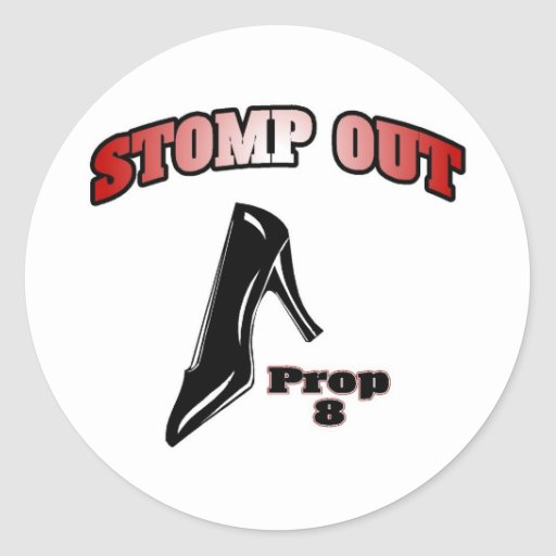 Stomp Out Prop 8 Stickers