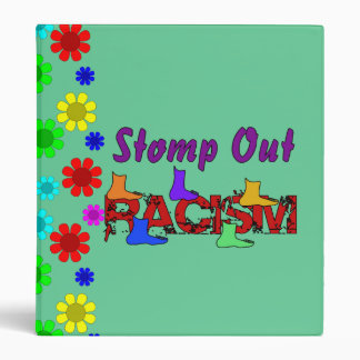 Stomp Out Racism 3 Ring Binder