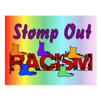 Stomp Out Racism Postcard