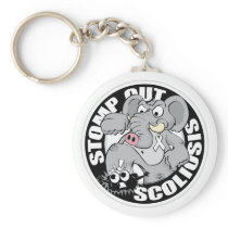 Stomp Out Scoliosis Keychain