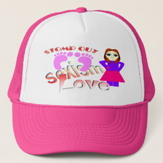 Stomp Out Sexism Love Women Trucker Hat