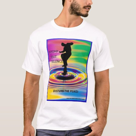 Stomp Out Silence - Disturb The Peace Resized pic T-Shirt