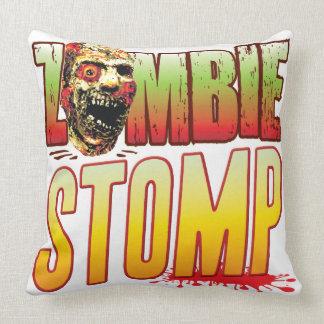 Stomp Zombie Head Throw Pillow