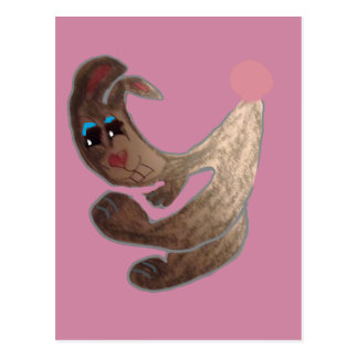 Stomper The Big Footed Bunny, Pastels Postcard
