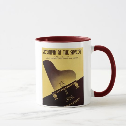 Stompin' At the Savoy Vintage Songbook Cover Mug