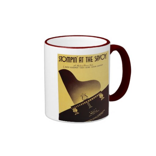 Stompin' At the Savoy Vintage Songbook Cover Ringer Coffee Mug