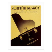 Stompin' At the Savoy Vintage Songbook Cover Postcard