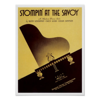 Stompin At the Savoy Vintage Songbook Cover Posters